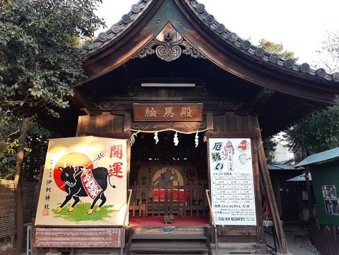 伊奴神社の絵馬殿