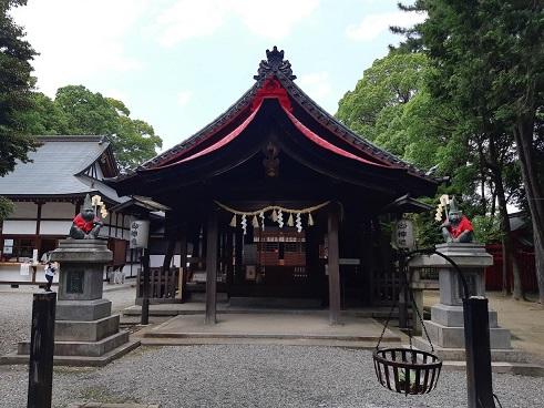 日吉神社の拝殿