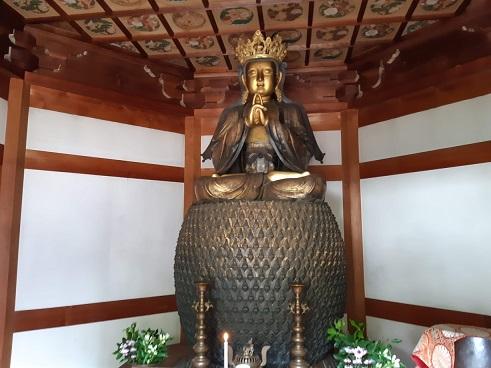 関善光寺の五郎丸ポーズ