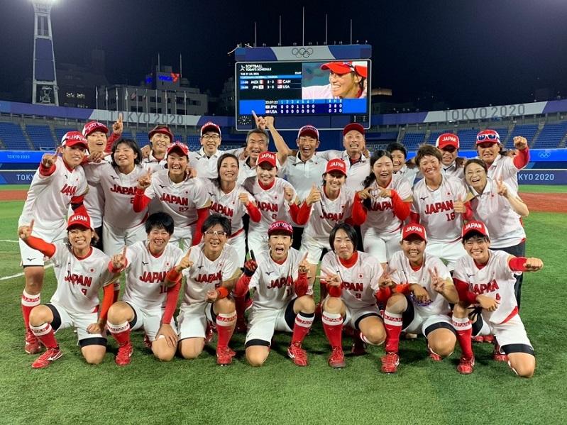 東京五輪女子ソフトボール日本代表選手達